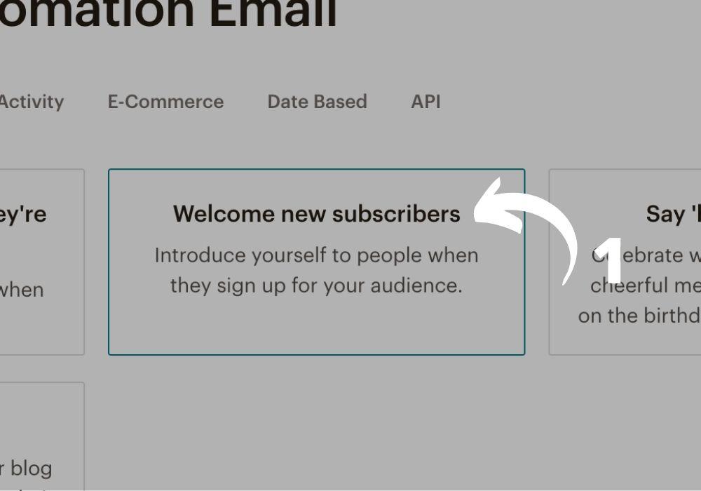 Créer une campagne automatique sous Mailchimp